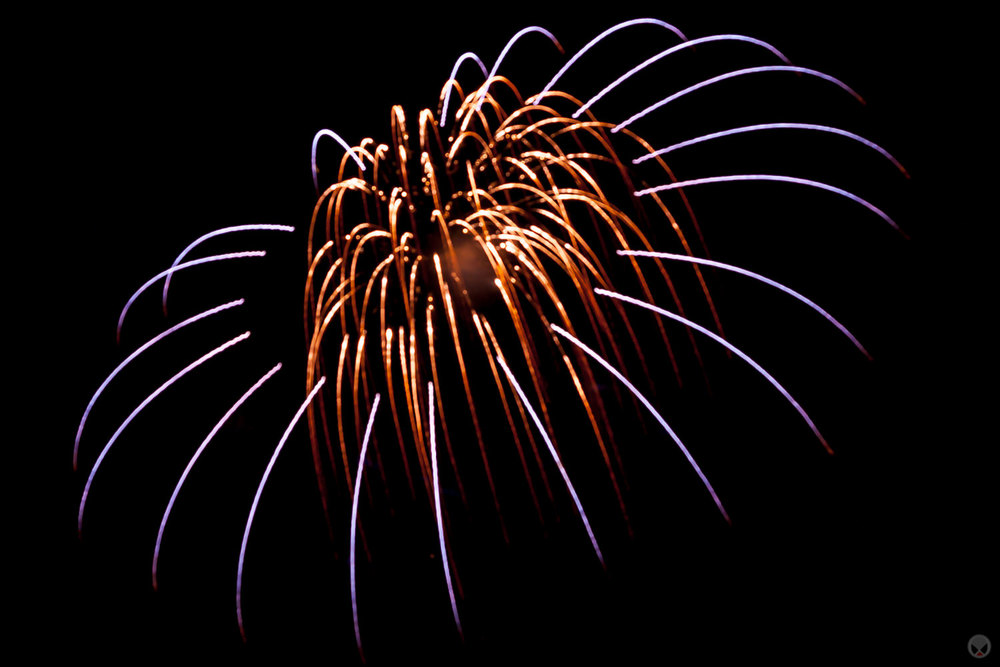 Fourth Of July Fireworks Over Redmond, Oregon