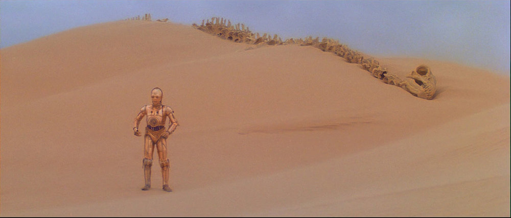 EXTERIOR - TATOOINE, THE DUNE SEA