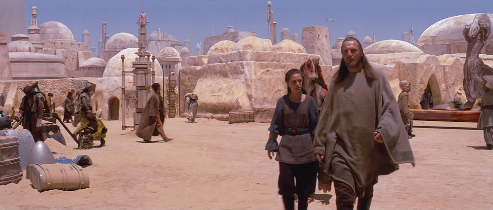 EXT. TATOOINE - MOS ESPA - STREET - DAY