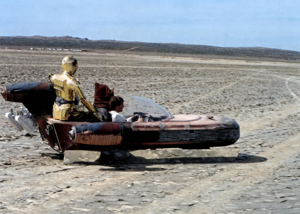 The Landspeeder With Attached Mirror