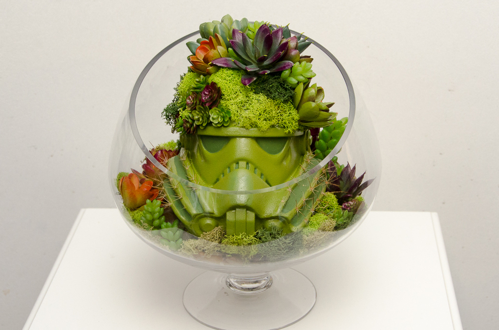 My final helmet at the Star Wars Legion Exhibition at the Robert Vargas Gallery in downtown L.A.