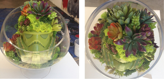 Added rocks, succulents, and moss to a glass bowl and here is the final result :)