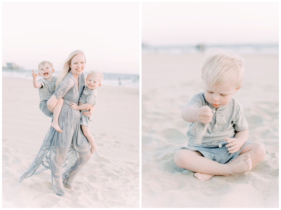 The Bing Family Orange County Family Photography Huntington Beach Family Session Film Inspired Photography Natural Light Sunset Session Cori Kleckner Photography