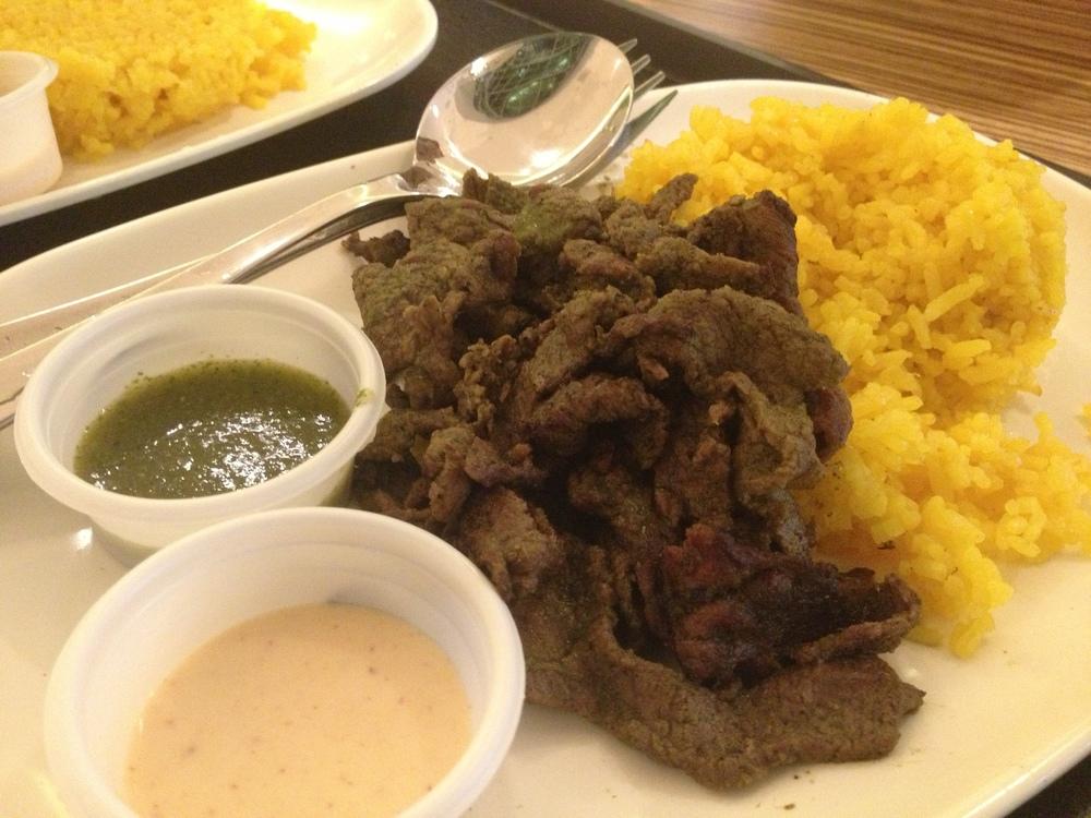 Php 230 - Carne asada rice platter