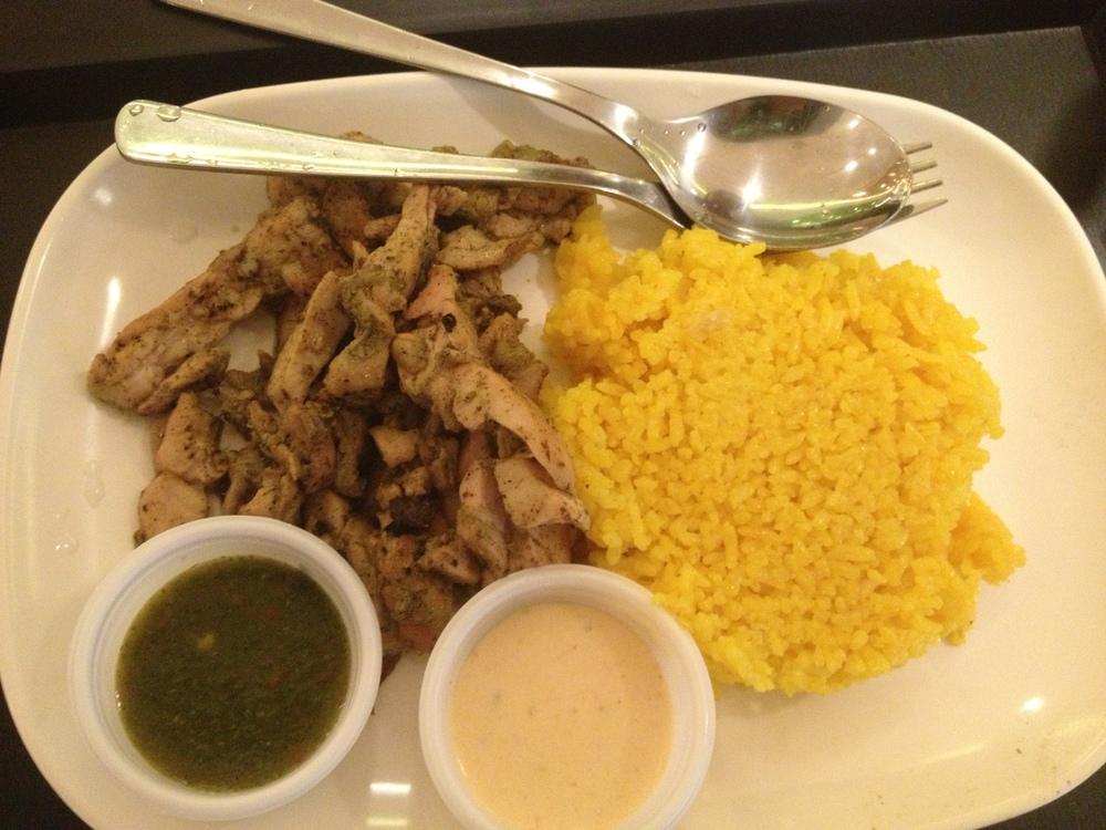 Php 190 - Pollo Asado rice platter