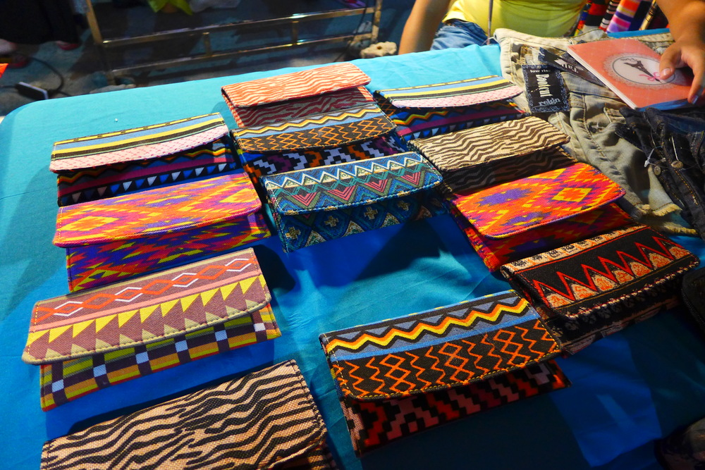 Patterned wallets that stopped us on our tracks.