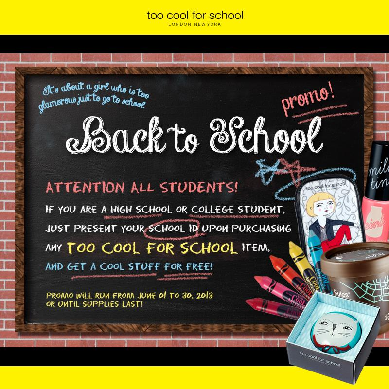 Attention also to HIGH SCHOOL or COLLEGE students out there! This promo is still ongoing!