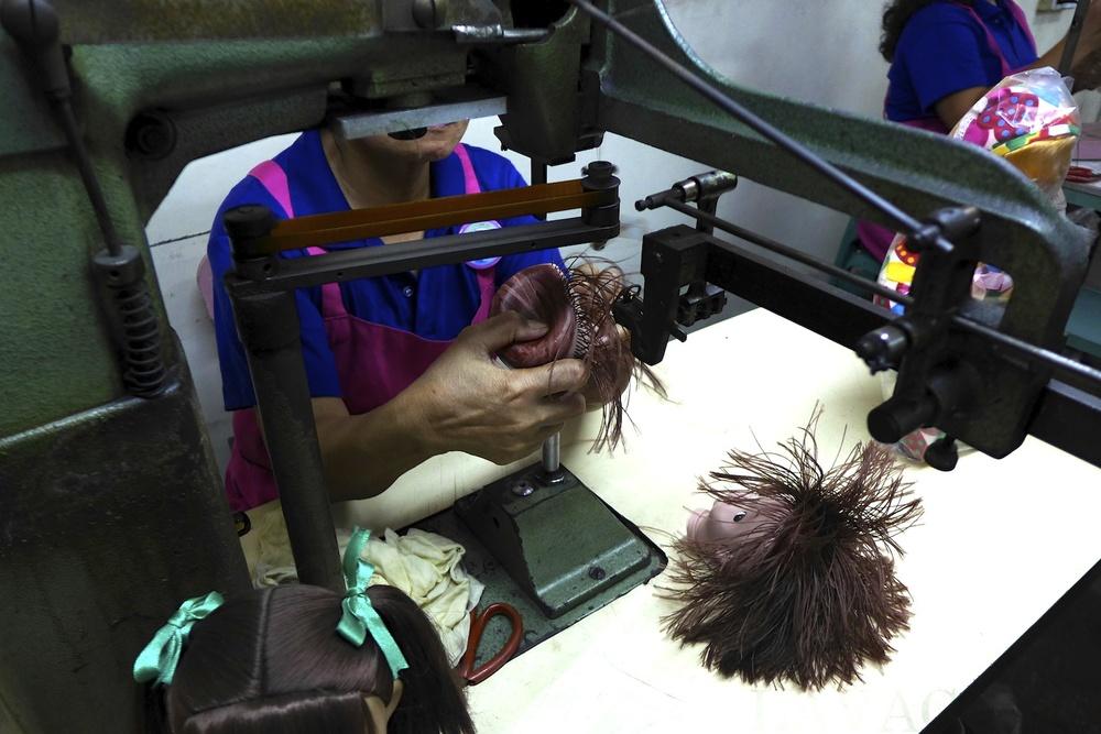 doll hair rooting machine
