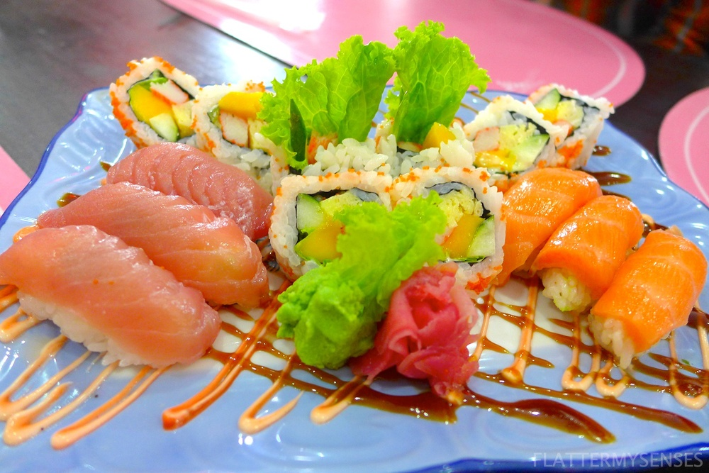 Special Mix Sushi (Php 450) Tuna, Salmon and California Maki