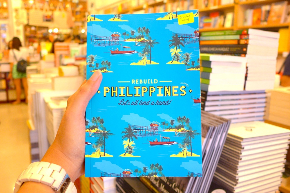 Saw this book in the counter when I was about to pay. This is a portrait book made solely to help Philippines, particularly Leyte, get back to its feet after Yolanda. It just warms my heart to see efforts like this abroad to help our kababayans who had been struck by the disaster.