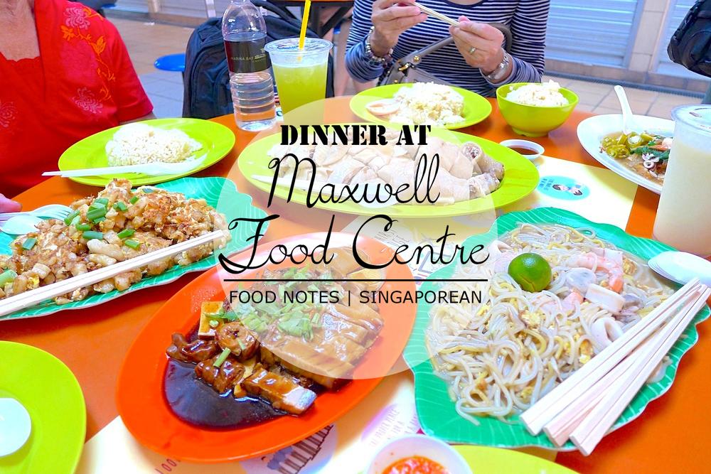 Good Food At Maxwell Food Centre