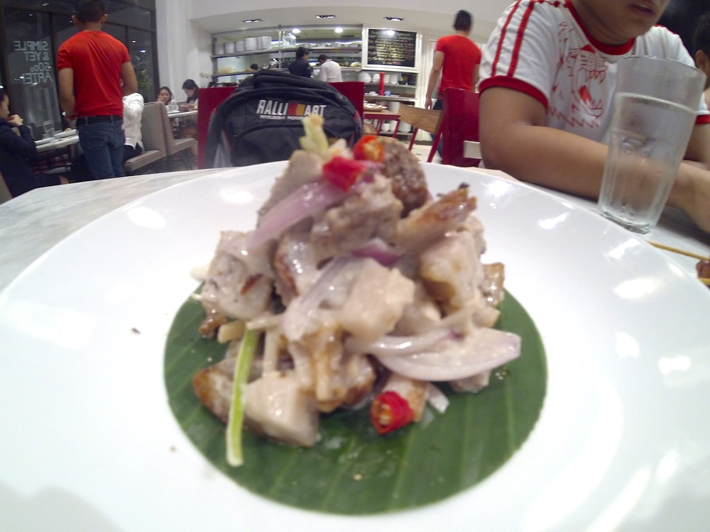 "Crispy ""Chop Chop"" Pork Belly Dinakdakan (Php 195)"