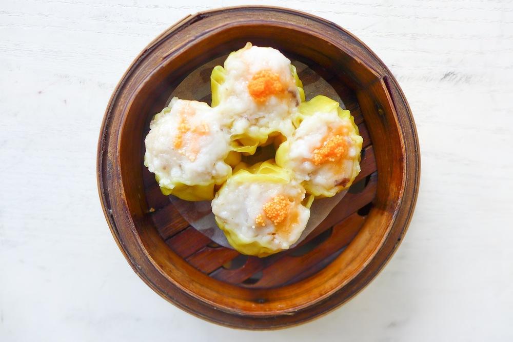 "Steamed Pork & Shrimp Dumpling with Crab Roe ""Siew Mai"""