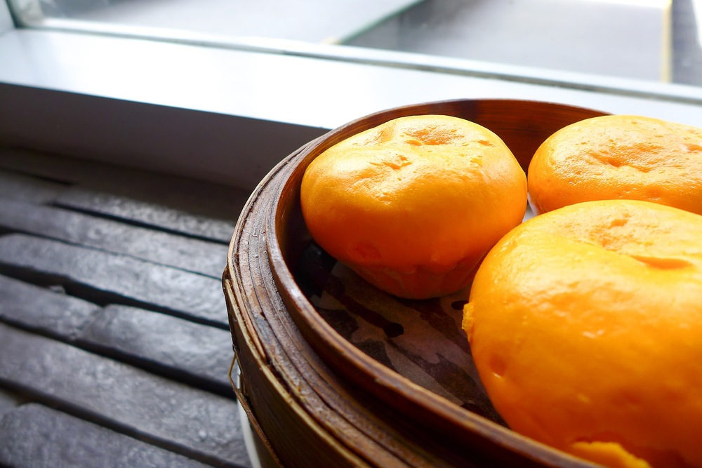 Steamed Cream Custard Bun with Salted Egg Yolk