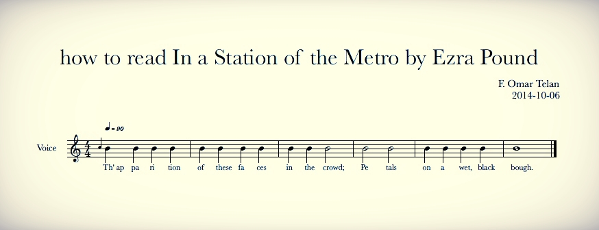 In a Station of the Metro  in musical notation.