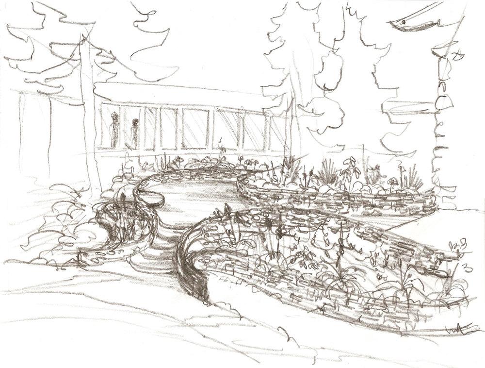 Terraced Garden Sketch