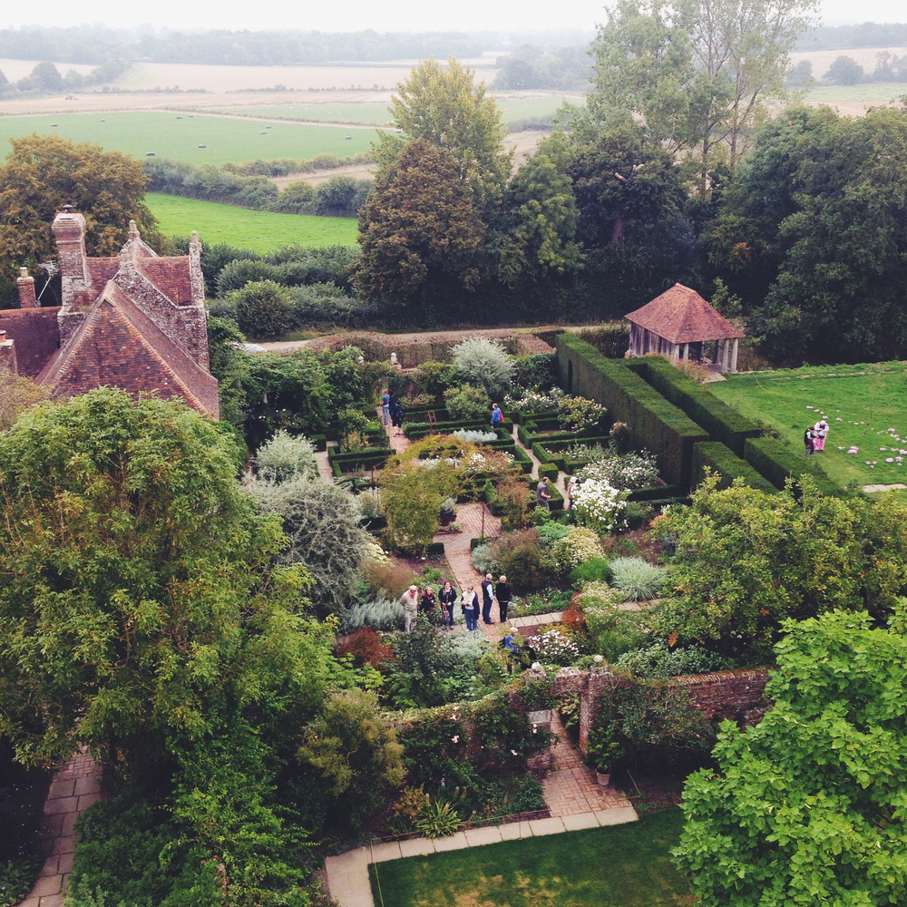Looking out over Sissinghurst