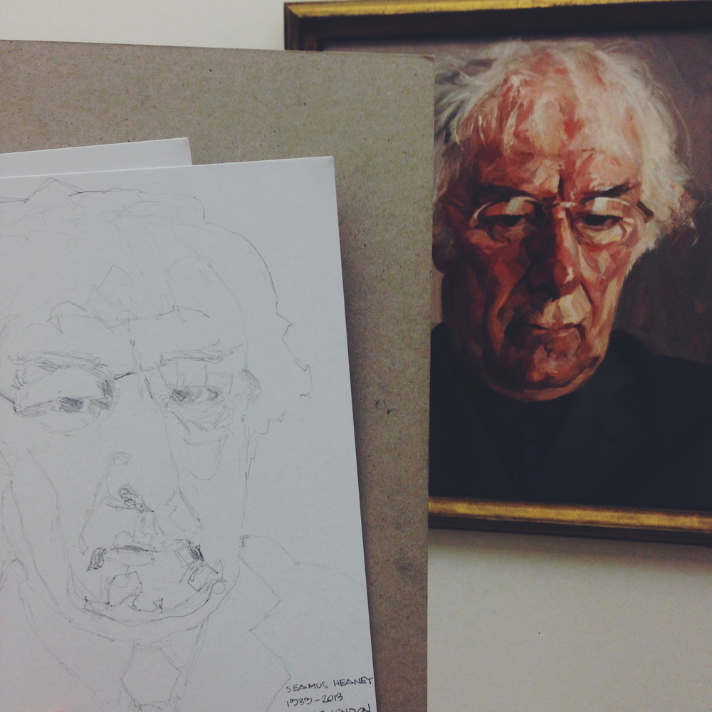 Sketching at the National Portrait Gallery on a Friday night