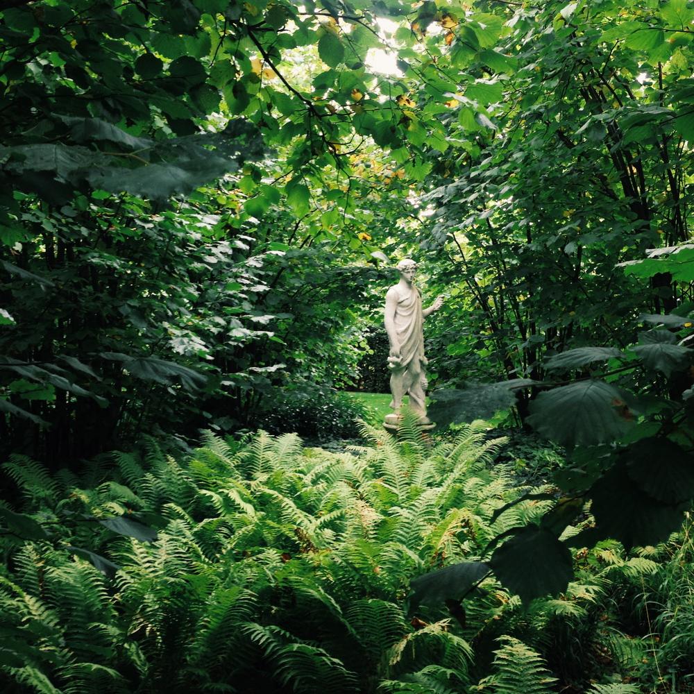 In the nuttery at Sissinghurst
