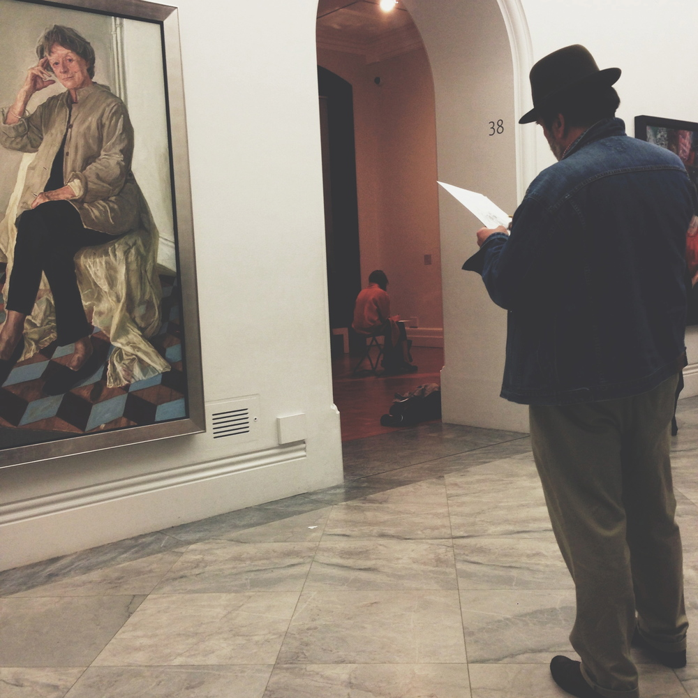 Friday night sketching at the National Portrait Gallery