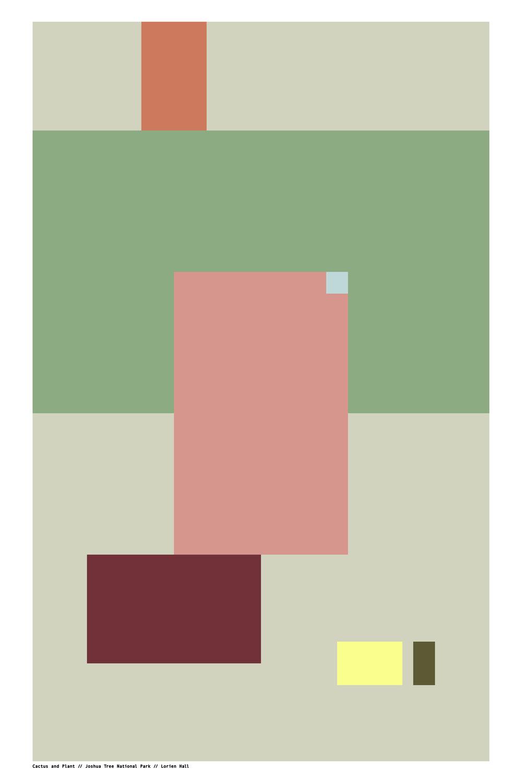 "CACTUS + PLANT // JOSHUA TREE NP // 24 x 36"" //Click image to buy"