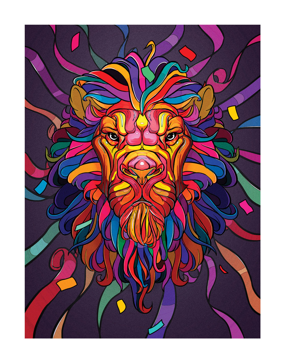 Lion Confetti artwork.