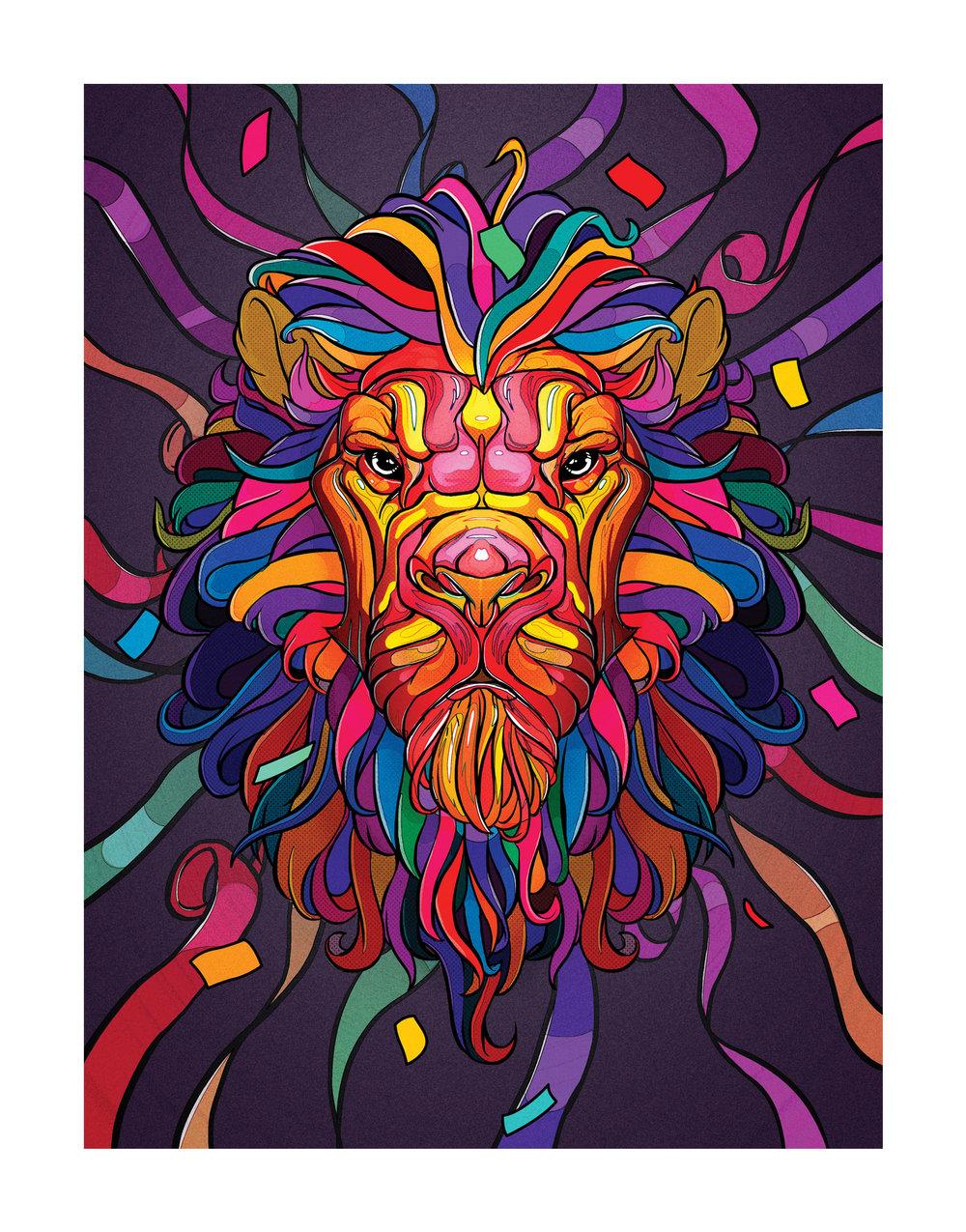 Lion Confetti artwork.