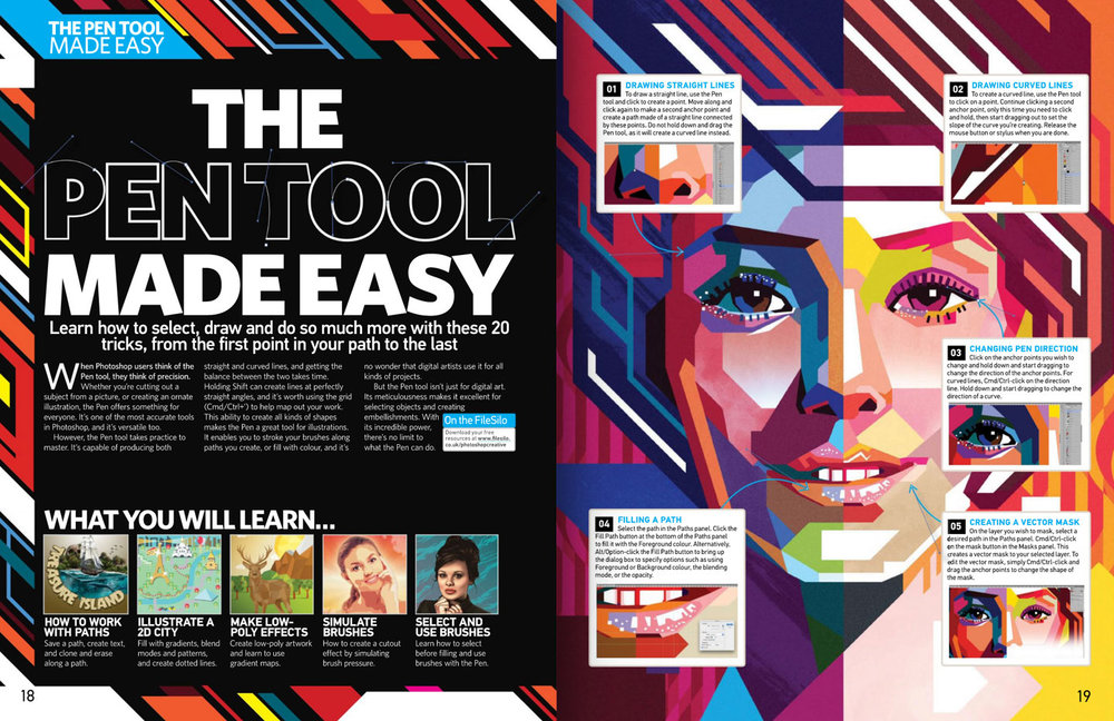 Photoshop Creative Magazine issue 145 spread.