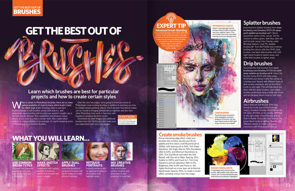 Photoshop Creative Magazine issue 147 spread.