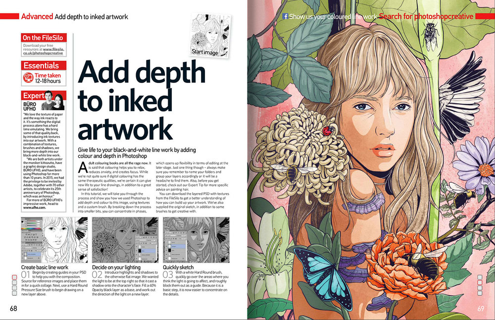 Photoshop Creative Magazine issue 138 spread.
