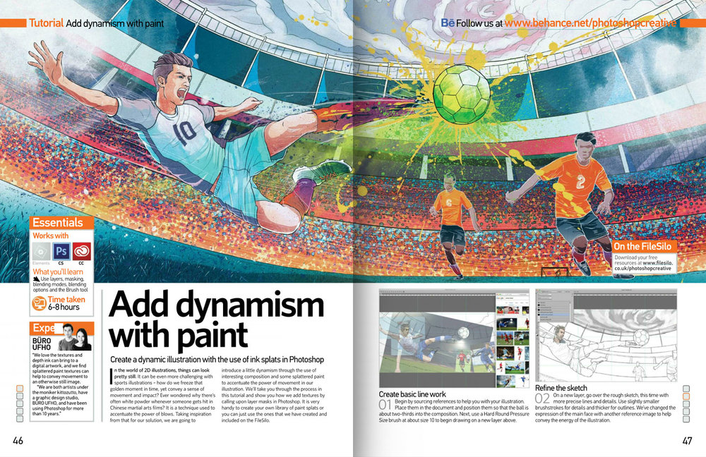 Photoshop Creative Magazine issue 141 spread.