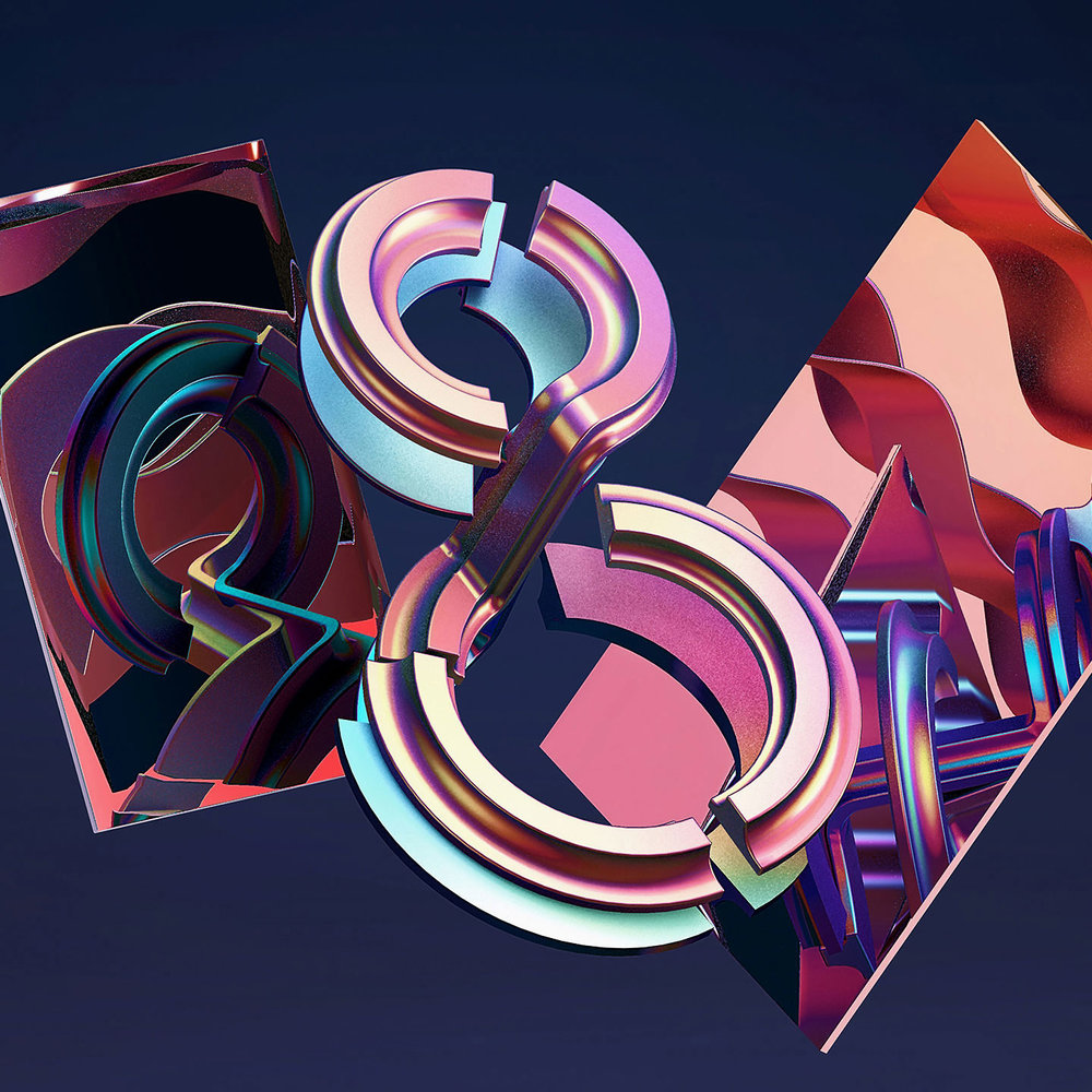 36 Days of Type 2016 - 3D typography number 8 visual.