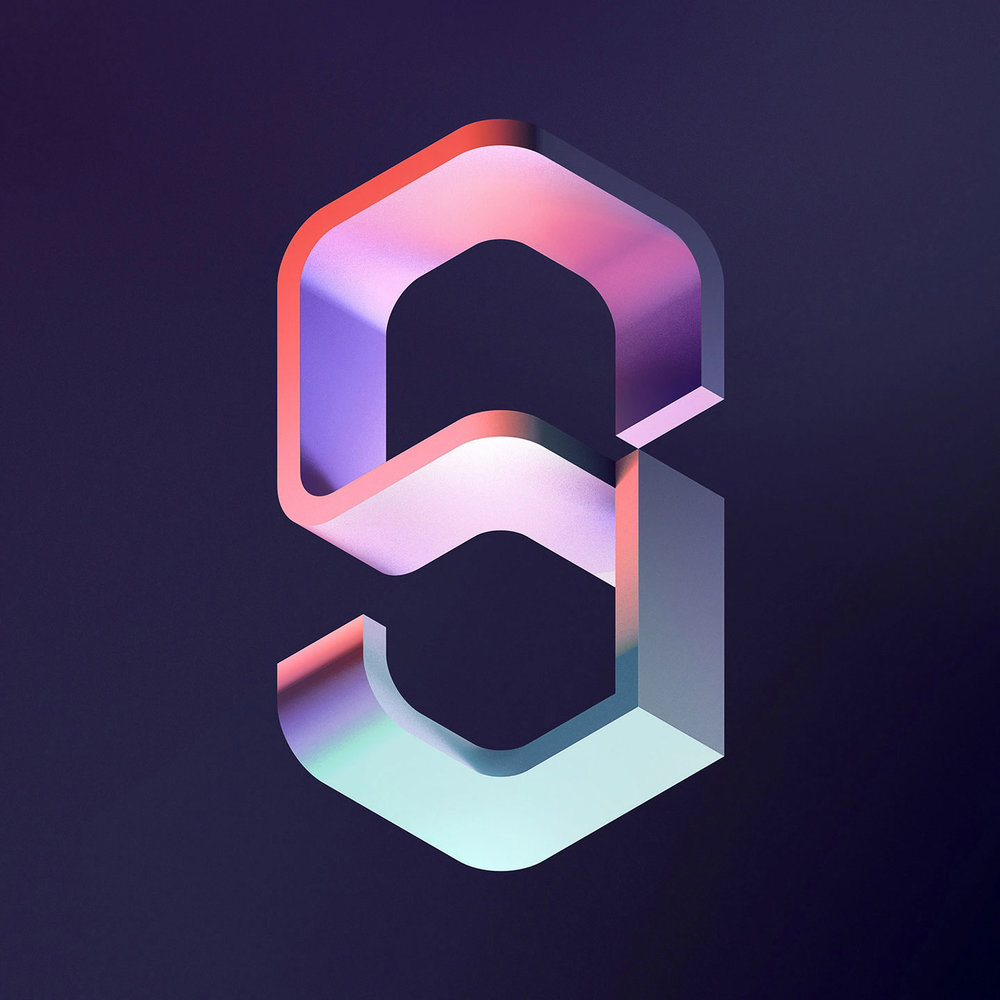 36 Days of Type 2016 - 3D typography number 9 visual.