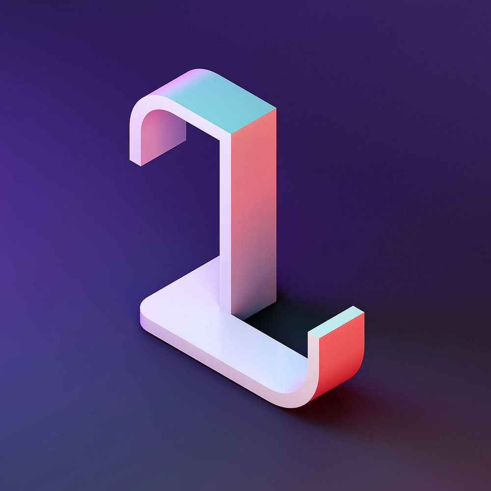 36 Days of Type 2016 - 3D typography letter L visual.