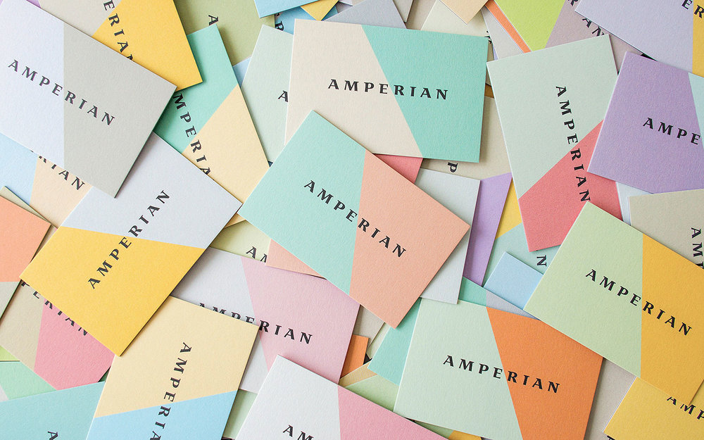 Amperian SG branding identity design - Business cards design by Singapore based brand strategy and creative design consultancy, BÜRO UFHO.