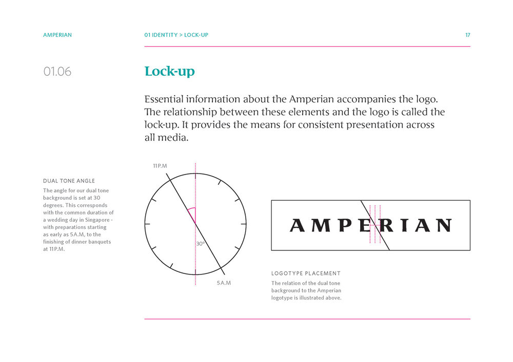 Amperian SG branding corporate identity design guide manual - Angle lock-up.