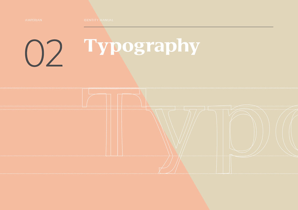 Amperian Identity Manual - Typography section cover.