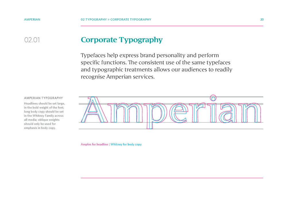 Amperian Identity Manual - Corporate Typography.