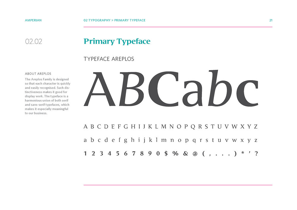 Amperian Identity Manual - Primary Typeface.