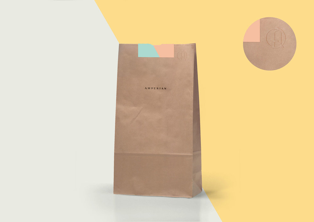 Amperian - Kraft Paper Bag with Emboss.