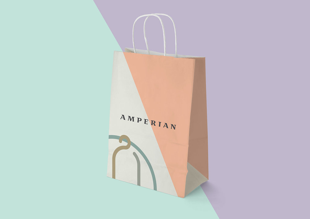 Amperian SG branding corporate identity design - Paper bag.