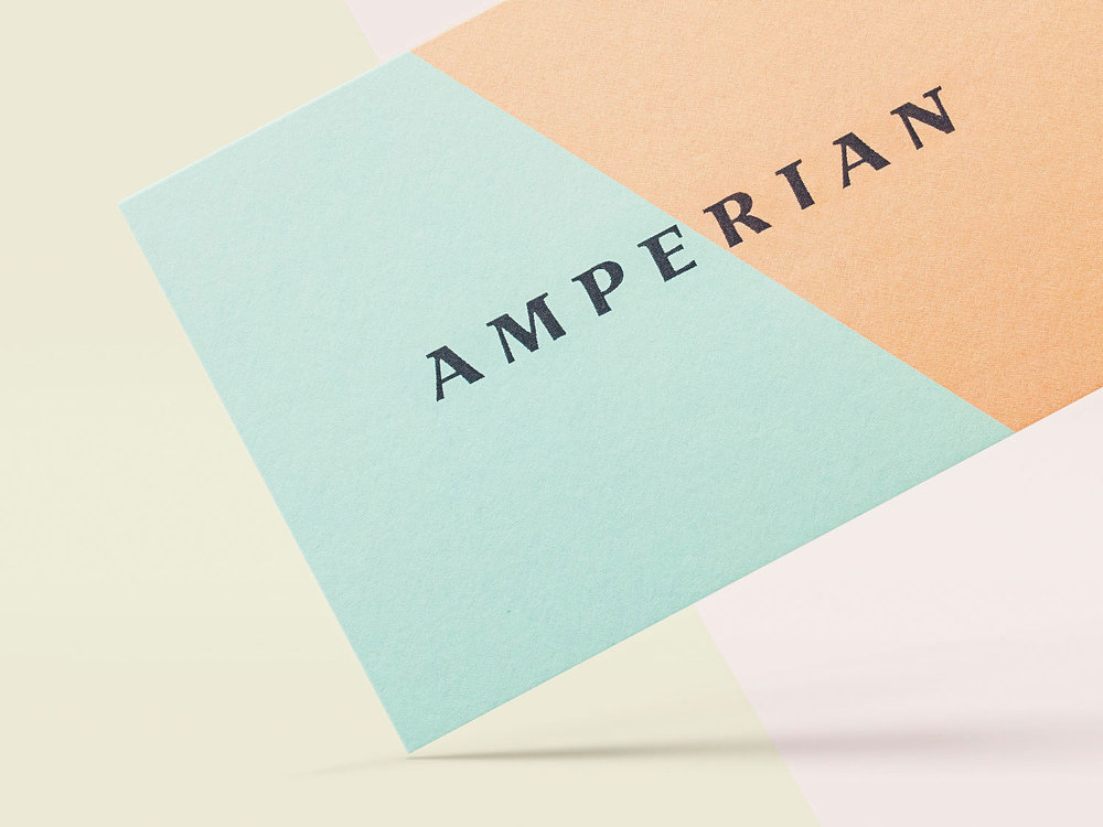 Amperian SG branding corporate identity design - Business cards.