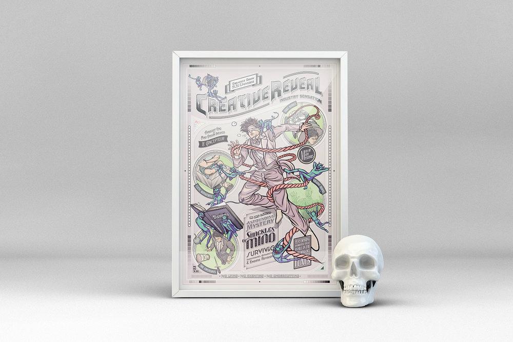 Creative Reveal - Le Designer variant framed poster.