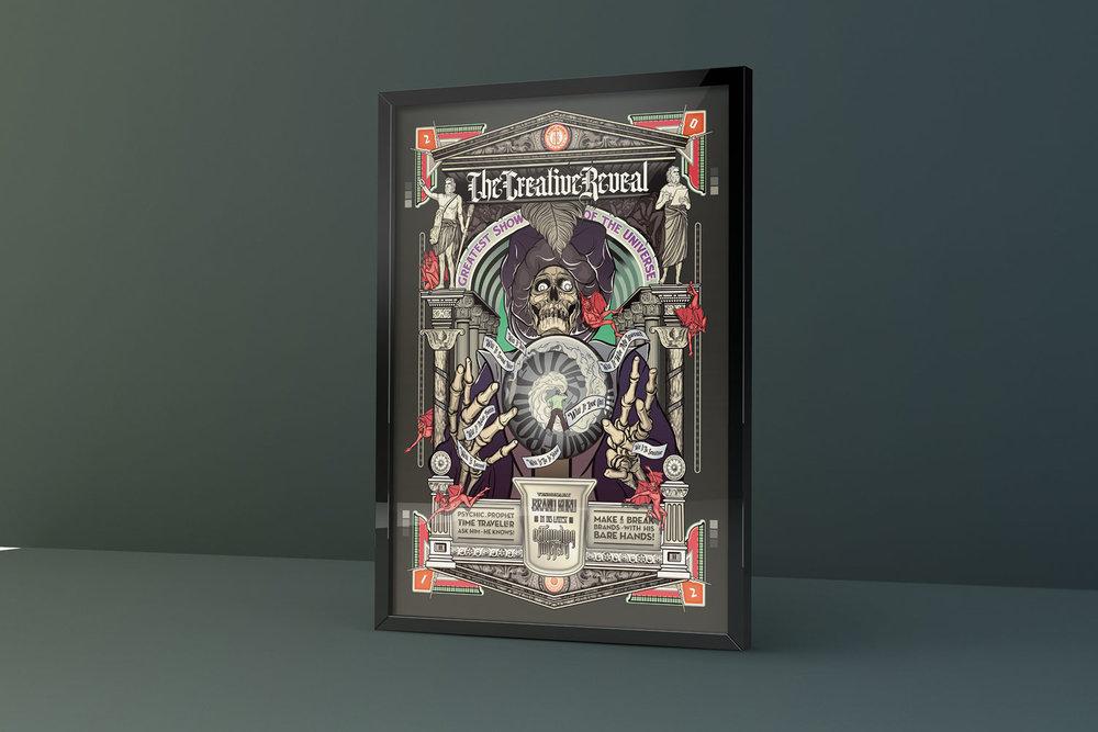 Creative Reveal - Brand Guru variant framed poster.