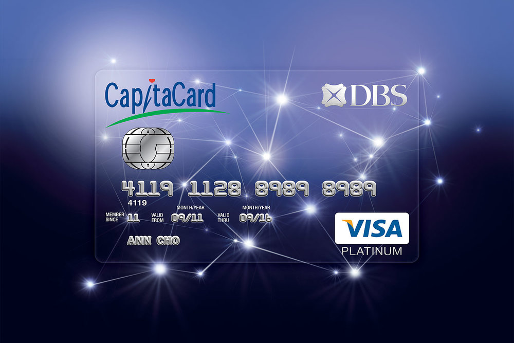 DBS CapitaCard card face.