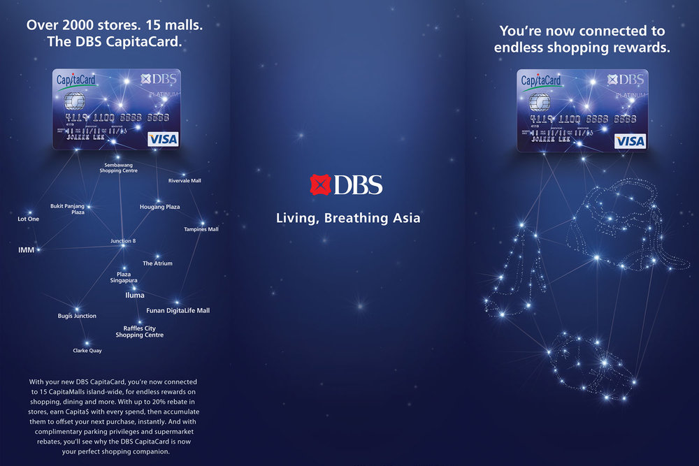 DBS CapitaCard branding identity advertising key visual illustration - Constellation brochure design by Singapore based brand strategy and creative design consultancy, BÜRO UFHO.