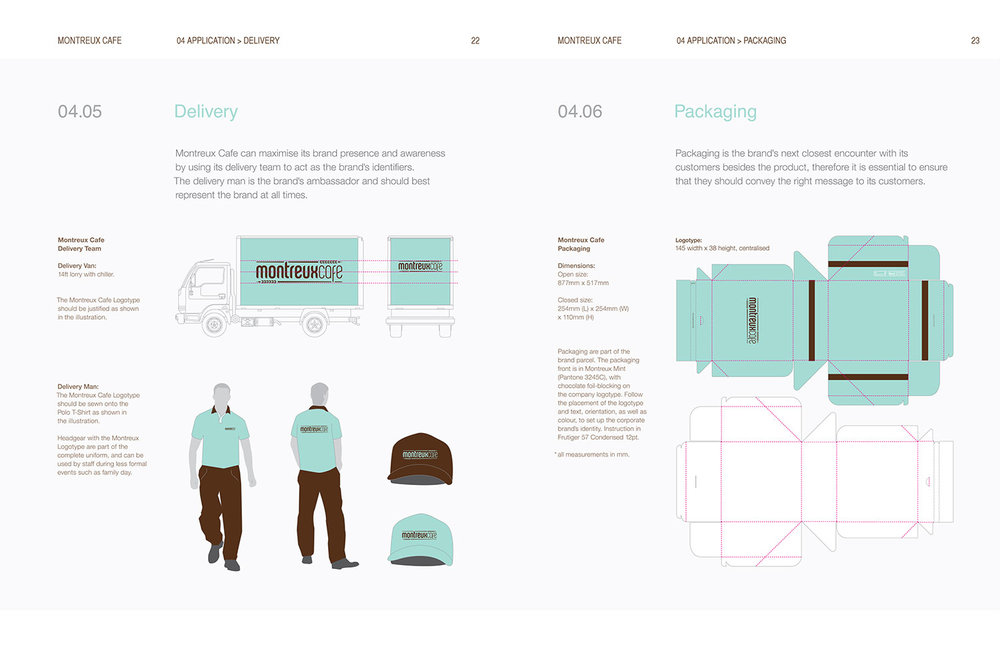 Montreux Café Identity Manual - Application.