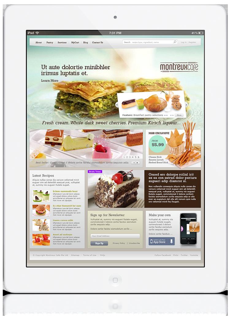 Montreux Café - Homepage.