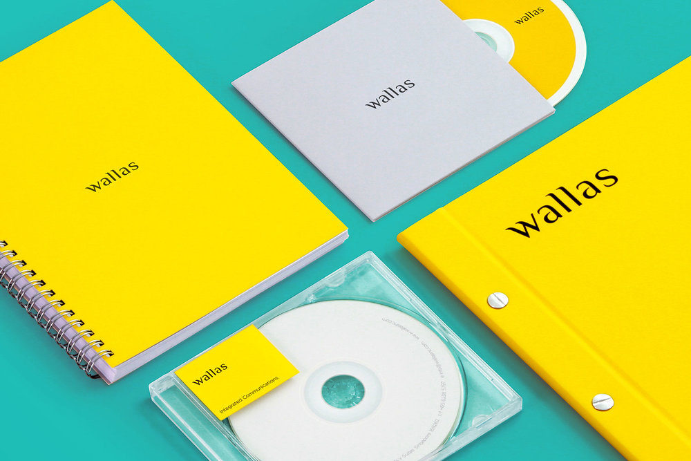 Branding identity design for Wallas Inc, an integrated agency in SG - Corporate identity stationery applications design by Singapore based brand strategy and creative design consultancy, BÜRO UFHO.