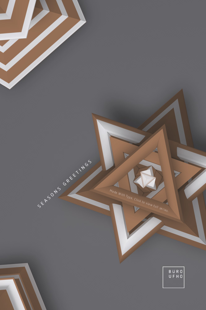 Typeflakes No.09 - Letters turned into 3D snowflakes visual.